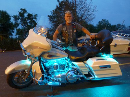 Remote Start Installation Harrison Township MI - Wow Electronics - Blue-Neon-Harley_1